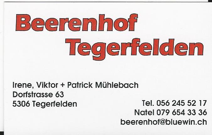 Beerenhof Tegerfelden